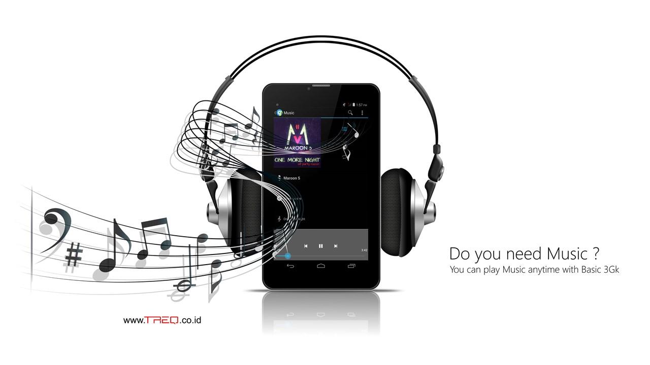 Musik dengan Treq Basic 3GK