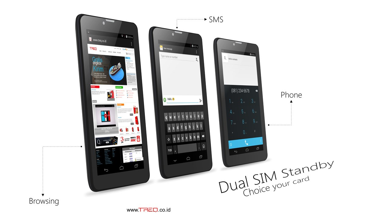 Dual SIM Stanby Treq Basic 3GK