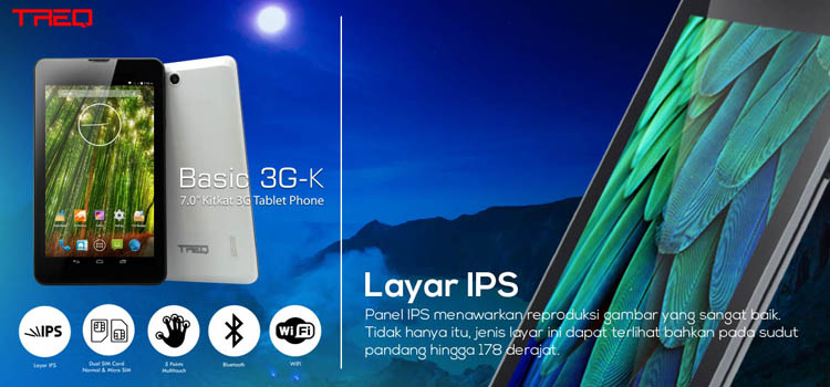 Treq Basic 3GK dengan IPS Display
