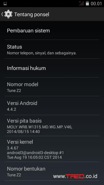 Treq Tune Z2 Kitkat 4.4.2