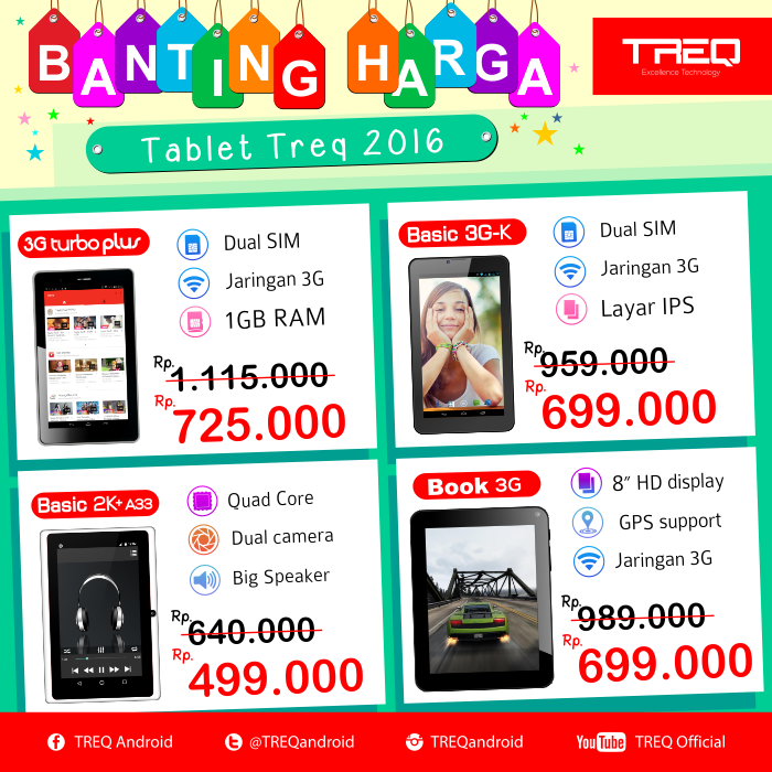 Banting Harga Tablet Android Treq 2016